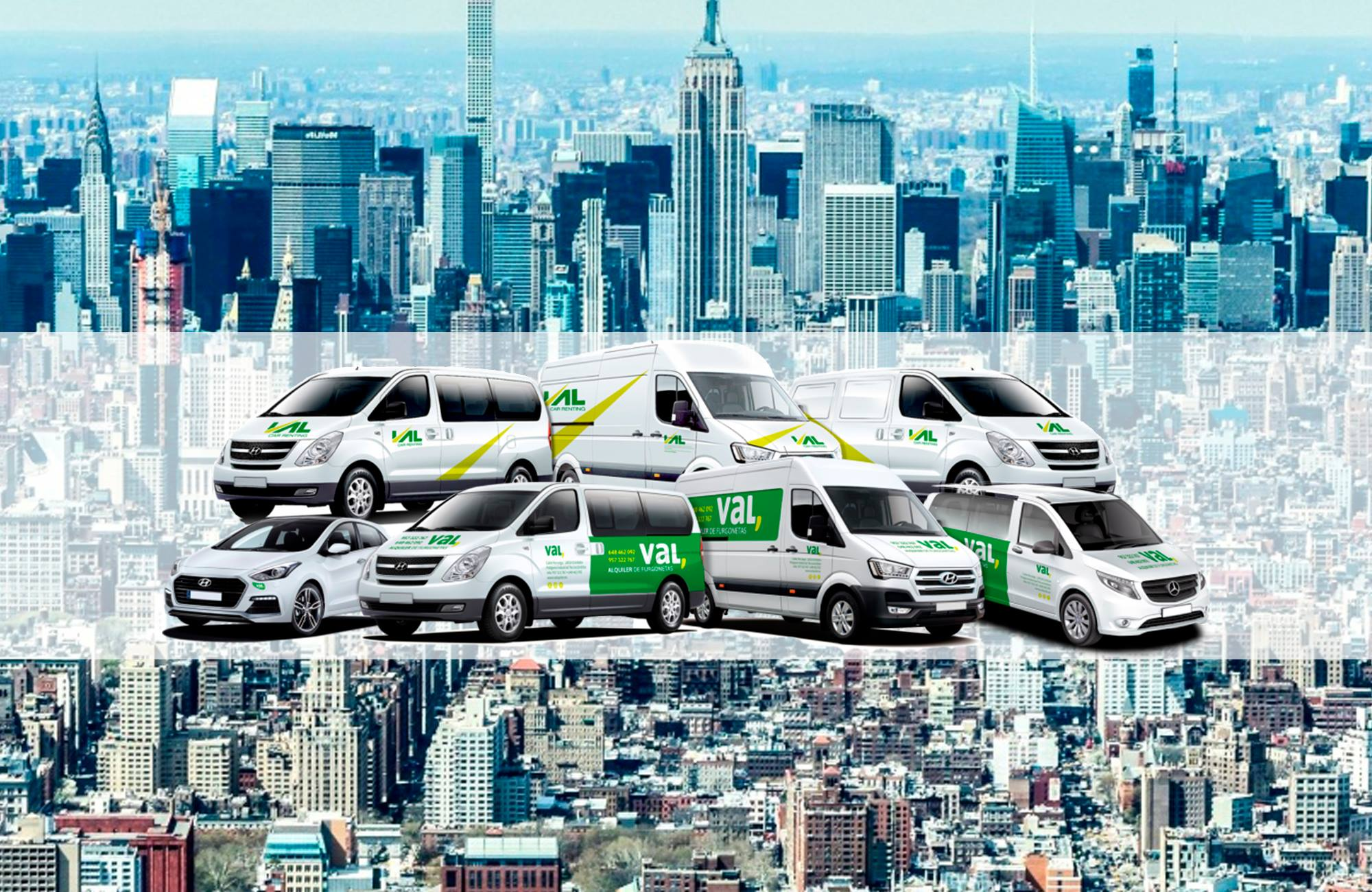 Disfruta de un 15% de descuento en el alquiler de nuestras furgonetas Hyundai, Mercedes e IVECO
